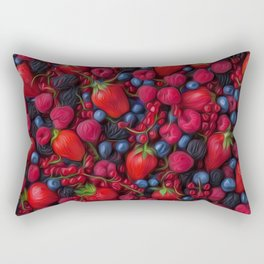 Bush Fruits Rectangular Pillow