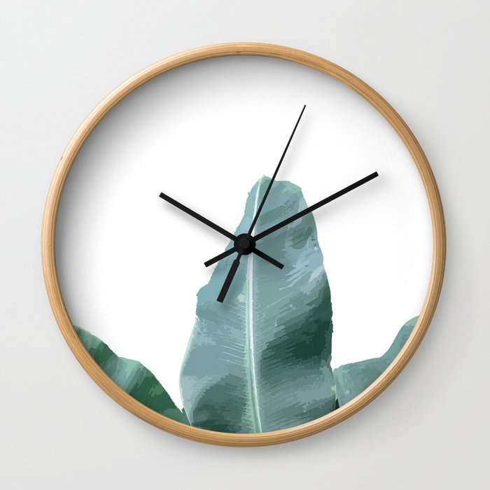 find me under the palm tree Wall Clock