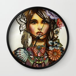 Owl Necklace Wall Clock