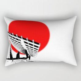 Barna Love Red Sun Rectangular Pillow