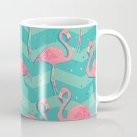 flamingo Mugs featuring Flamingo by Julia