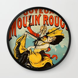 Parisian Vintage Poster Wall Clock