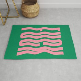 Favorite Word: Tropical Wavy Edition Rug