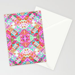 Mosaic Pinks Stationery Cards