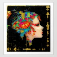 glitch Art Prints featuring Glitch by Steve W Schwartz Art