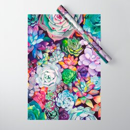Succulent Garden Wrapping Paper