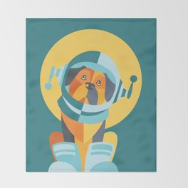 One Giant Leap for All Muttkind Throw Blanket