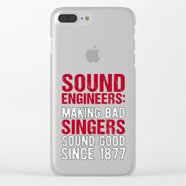 Audio Sound Engineer Acoustical Engineering Gift design Clear iPhone Case