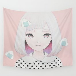 Onigiri Portrait Wall Tapestry