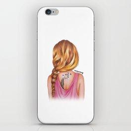 Blonde Rope Braid Girl Drawing iPhone Skin