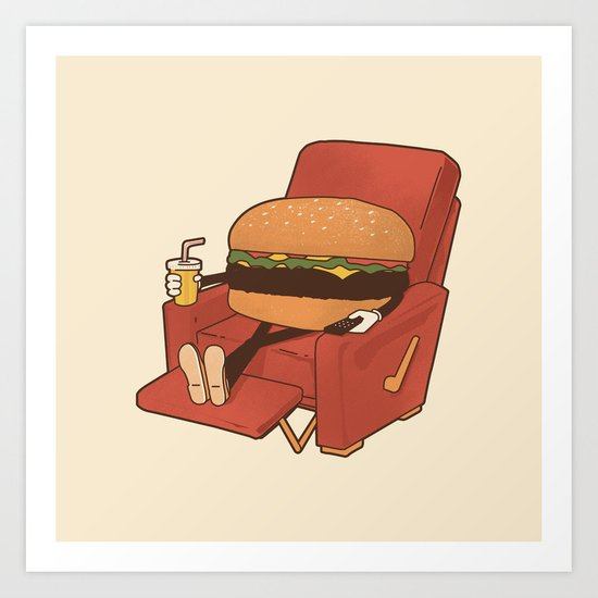 Lunch Break. Art Print