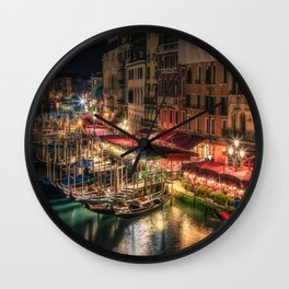 Canal Grande Venice Wall Clock