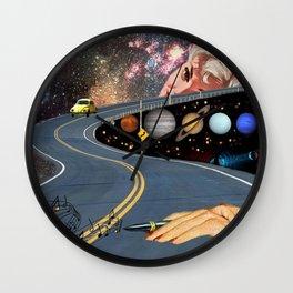 Composing on the Road. *Futuristic / Sci-Fi Surreal Digital Collage.* Wall Clock