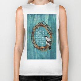 shrike with thorns Biker Tank
