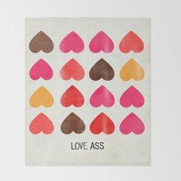 LOVE ASS Throw Blanket