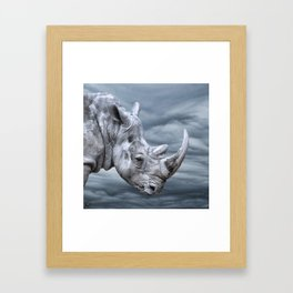 Thunder Rhino Framed Art Print
