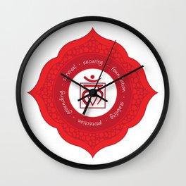 Root Chakra #54 Wall Clock