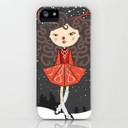 'Rudolf the Reel Deer' Lil Dancer iPhone Case