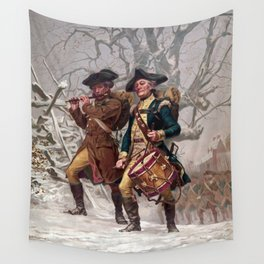 Revolutionary War Soldiers Marching Wall Tapestry