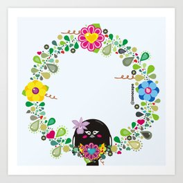 Flower Garland|Corona Florida Art Print