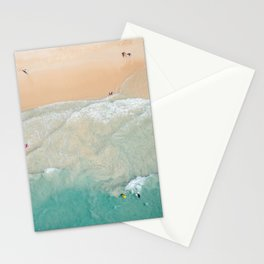 Beachgoers from above Stationery Cards