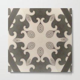 Mocca Naive Mandala Metal Print