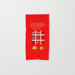 Red Party Hand & Bath Towel