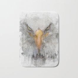 american eagle watercolor print Bath Mat