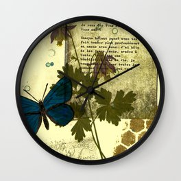 Columbine Love Letters Wall Clock