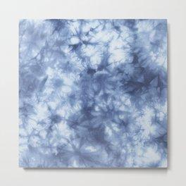 Blue Boho Tie Dye  Metal Print