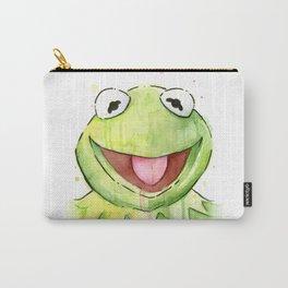 Frog Kermit Portrait Carry-All Pouch