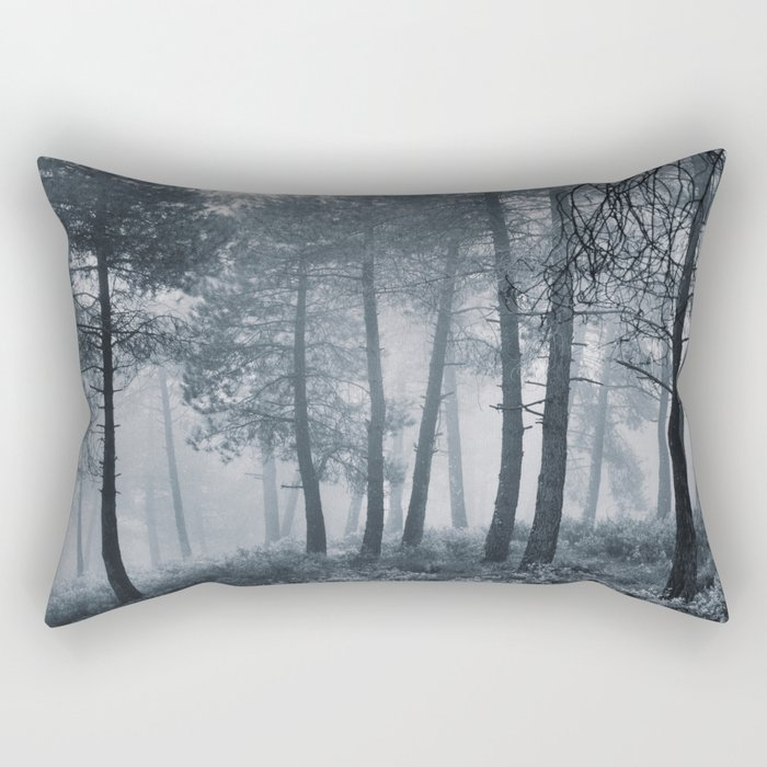 Mistery forest. Retro Rectangular Pillow