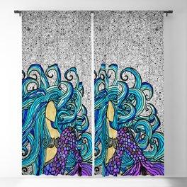 2017 Blue Mermaid Blackout Curtain