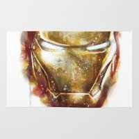 iron man Area & Throw Rugs featuring Iron Man by beart24