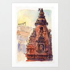 Bhaktapur Temple Art Print