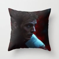 fight Throw Pillows featuring Fight by Kate Dunn