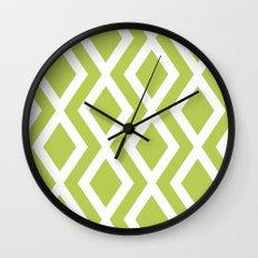 Lime Diamond Wall Clock
