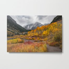 Peak of Fall at Maroon Bells  Metal Print
