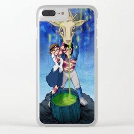 Studio Ghibli's Princess Mononoke - San and Ashitaka Clear iPhone Case