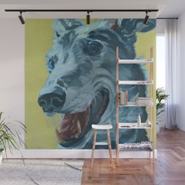 Dilly the Greyhound Portrait Wall Mural
