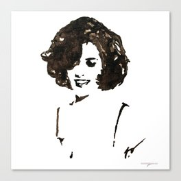 WINONA RYDER BY ROBERT DALLAS Canvas Print