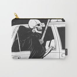Passenger taxi grim - black and white - gothic reaper Carry-All Pouch