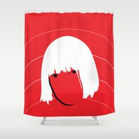 sia Shower Curtains featuring Girls Like Sia  by Smudgey Paw