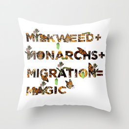 Monarch Magic Throw Pillow