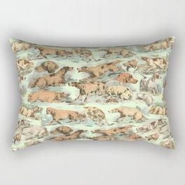 BIRDDOGS IN THE FIELD - MINT Rectangular Pillow