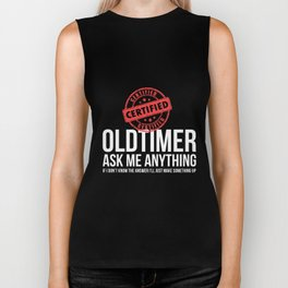 Certified Old Timer Funny Alcoholics Anonymous AA Tshirt Biker Tank