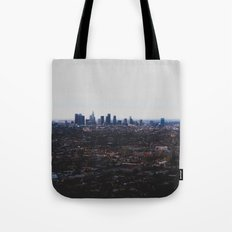 Los Angeles in fog Tote Bag