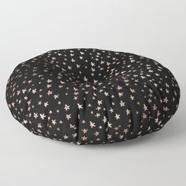 Black & Rose Gold Star Pattern Floor Pillow