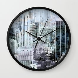 Painted City (cool) Wall Clock