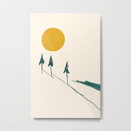 The Forest Tree Line Metal Print
